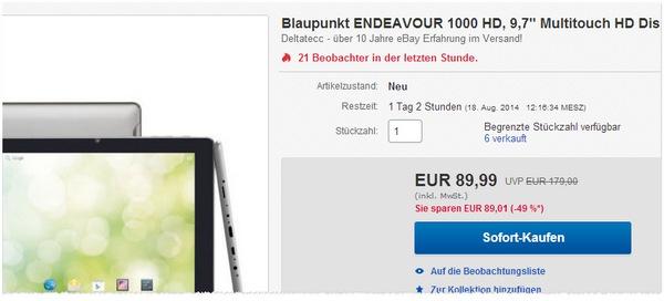 Blaupunkt Endeavour 1000 HD kaufen