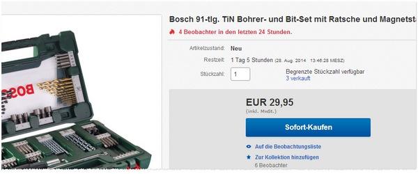 Bosch V-Line Werkzeugkoffer V-Boxx mit Bohrer-Bit-Set und Ratsche