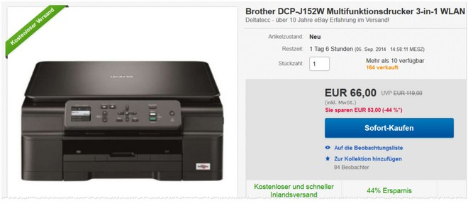 Brother DCP-J152W Preis
