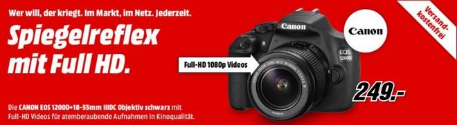 Canon EOS 1200D Media Markt Werbung