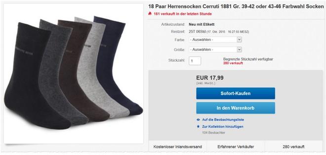Cerruti-Socken Angebot