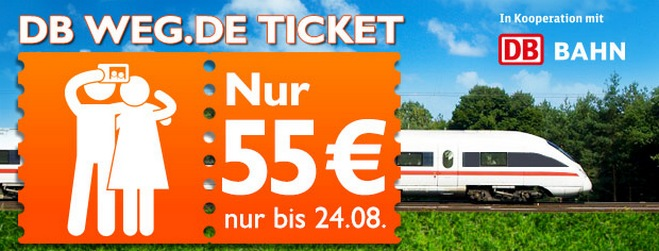 DB Weg.de Ticket