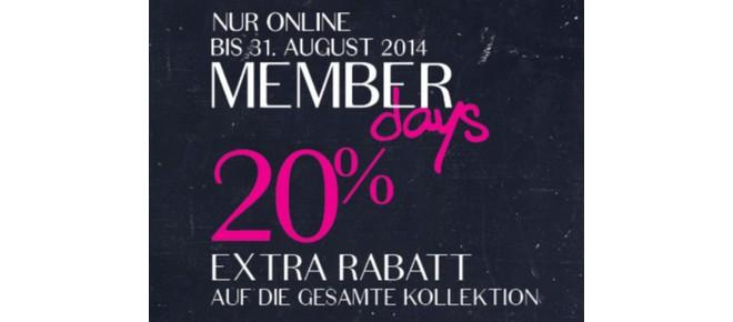 Hunkemöller Member Days 20 Prozent online