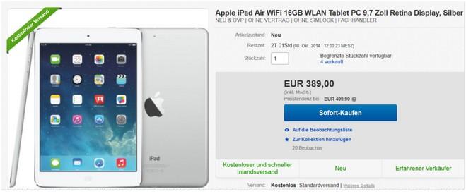 iPad4 ohne Vertrag Sonderpreis