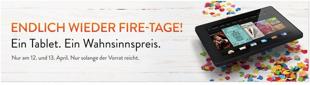 Kindle Fire Tage am 12.4. und 13.4.2015