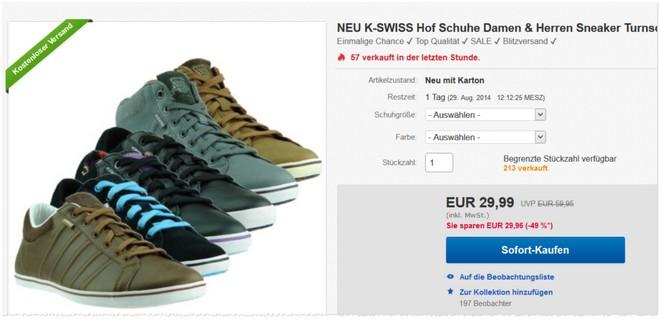 KSwiss Sneaker Hof für Damen & Herren