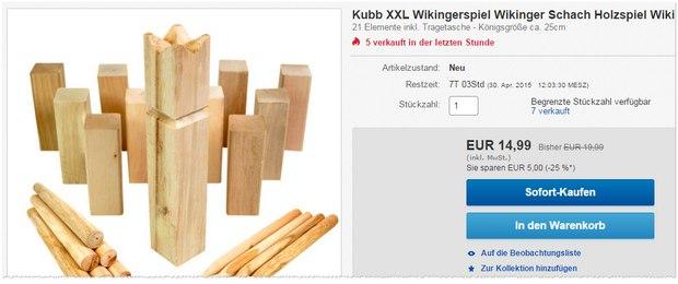 Kubb Wikingerschach Angebot für 14,99 €