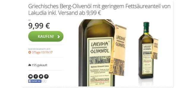 Lakudia Olivenöl Groupon