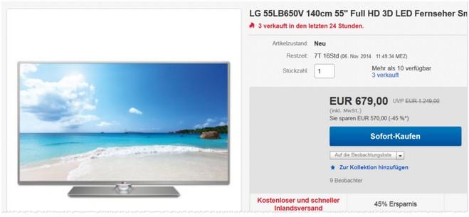 LG 55LB650V Angebot