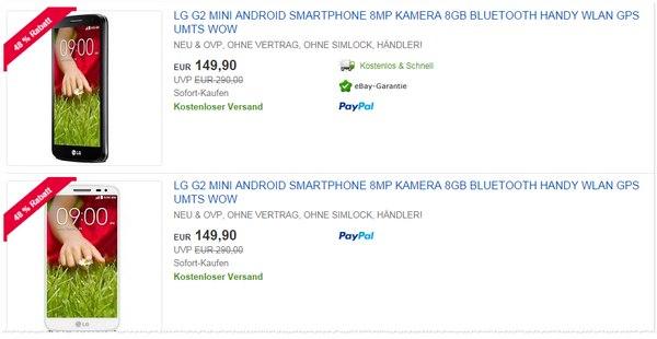 LG G2 mini ohne Handytarif