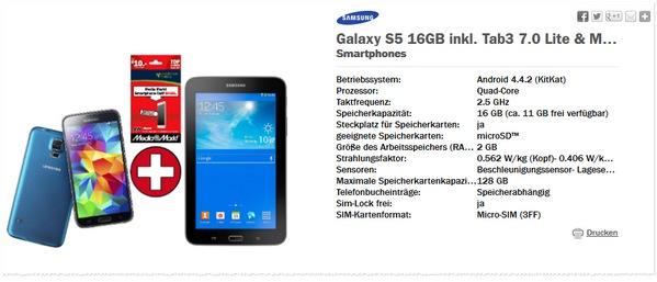 Media Markt Nacht der Schnäppchen mit Samsung Galaxy S5 + GalaxyTab Angebot