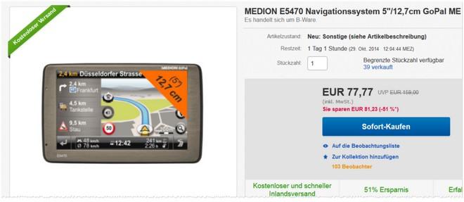 Medion E5470 Navigationssystem gebraucht