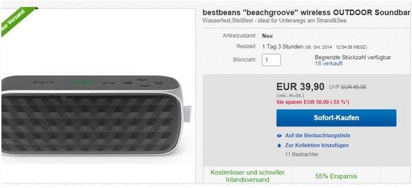 NFC Lautsprecher Bestbeans Beachgroover
