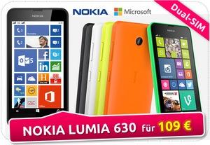 Nokia Lumia 630 Angebot bei ALDI, Saturn und Media Markt