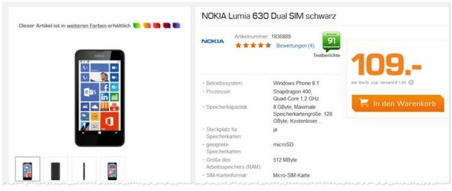 Nokia Lumia 630 Dual SIM Saturn