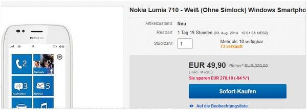 Nokia Lumia 710 ohne Vertrag kaufen