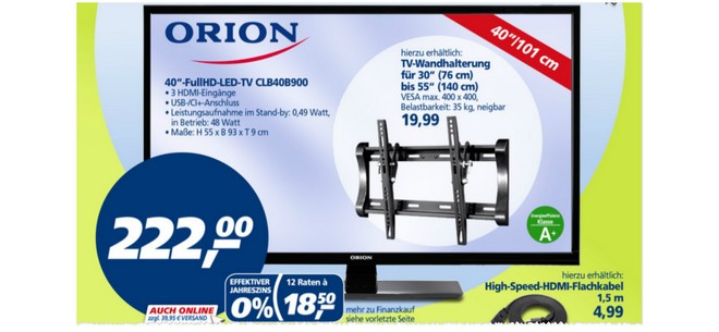 Orion Clb40b900 Bei Real Ab 192014 Nur 222