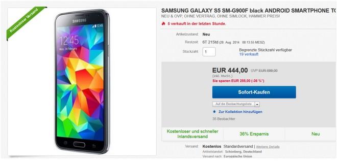 Samsung S5 ohne Vertrag