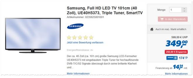 Samsung UE40H5373 Real Prospekt