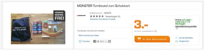 Saturn Monster Turnbeutel kostenlos