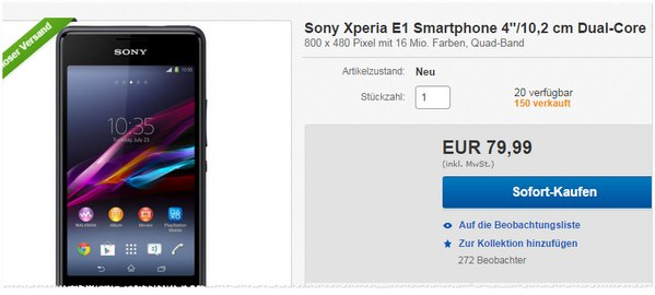 Sony Xperia E1 kaufen