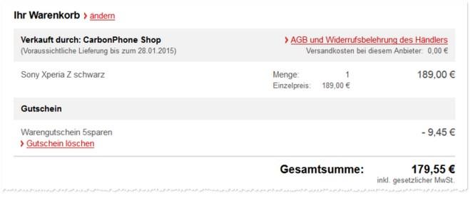 Sony Xperia Z gebraucht