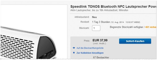Speedlink Tonos günstig kaufen