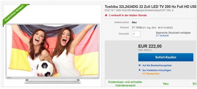 Toshiba 32L2434DG Preis