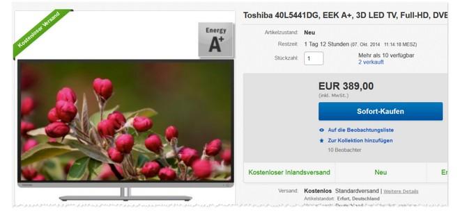 Toshiba 40L5441DG Preis