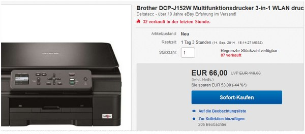 Brother Multifunktionsdrucker DCP J152W