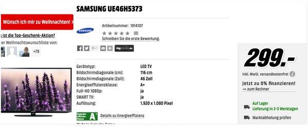 Samsung UE46H5373 am Media Markt Tiefpreistag
