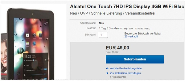 Alcatel One Touch Tab 7 HD kaufen