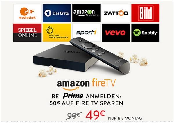 Amazon Fire TV zum Prime-Preis von 49 Euro