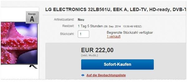 Angebot für den LG 32LB561U