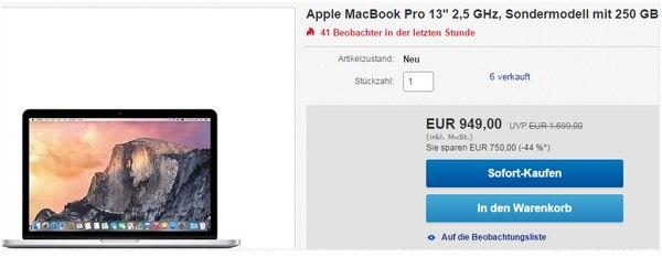 Apple MacBook Pro im Gravis Outlet