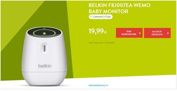 Belkin F8J007 WeMo Baby Monitor bei BASE
