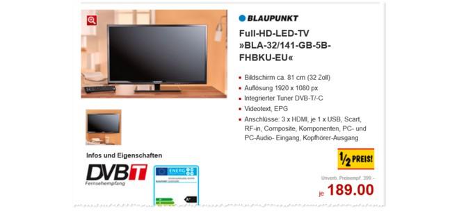 Blaupunkt BLA-32/141-GB-5B-FHBKU-EU Kaufland