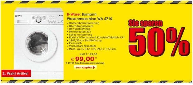 Bomann Waschmaschine WA 5710 bei Netto Online für 99 €