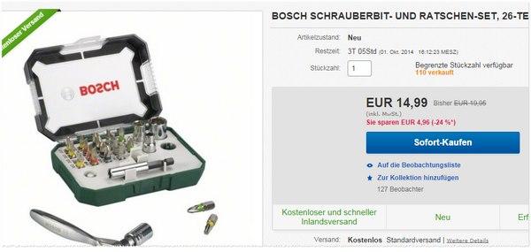 Bosch Schrauber-Bit und Ratschen-Set