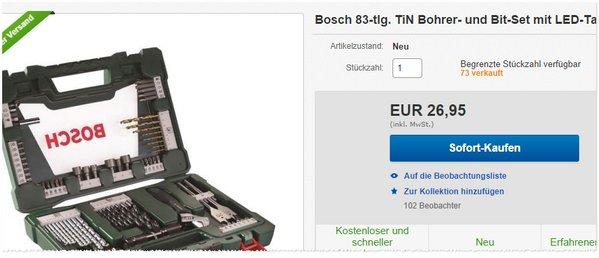 Bosch Werkzeug, 83-teilig