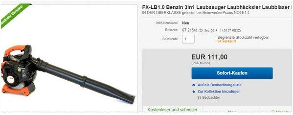 Fuxtec LB 1.0 EBV 260