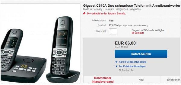 Gigaset Duo C610 Angebot