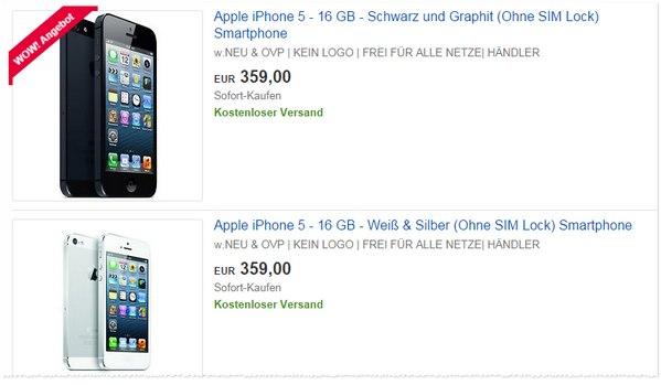 iPhone 5 Vorführware