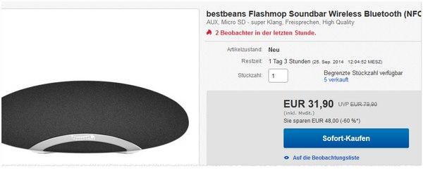 Lautsprecher Bestbeans Flashmop