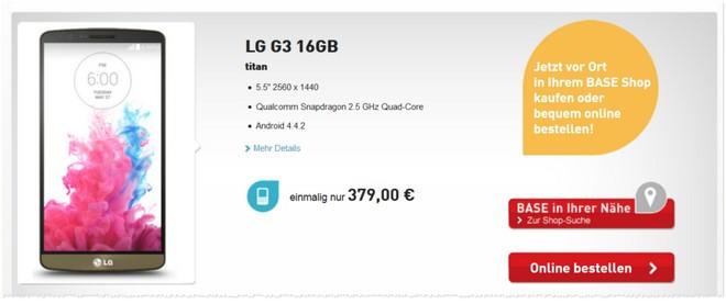 LG G3 Preis BASE