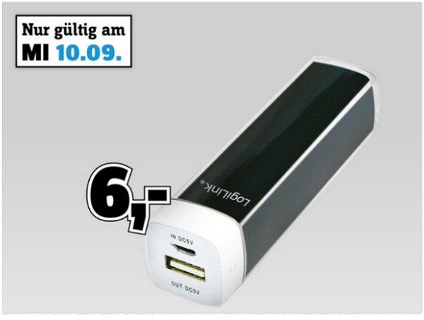 Logilink PowerBank 2200 als Conrad Angebot für 6 €