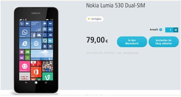 Lumia 530 Angebot bei Smartkauf für 79 €