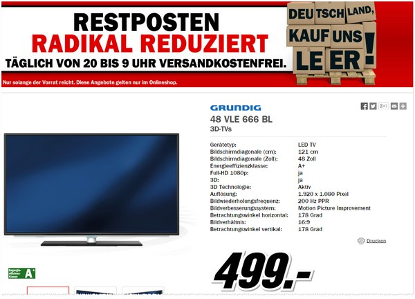 Media Markt Aktion Deutschland, kauf uns leer