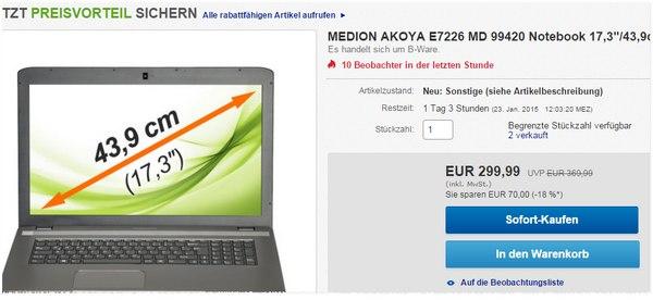 Medion Akoya E7226T MD 99240