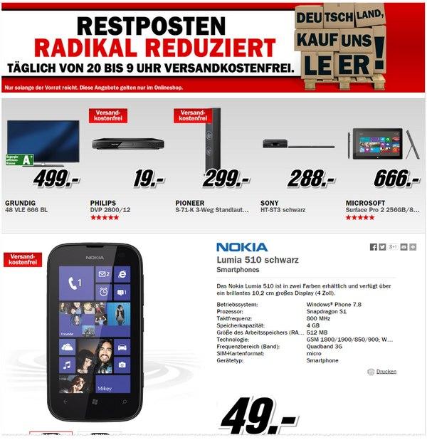 Nokia Lumia 510 Angebot ohne Vertrag